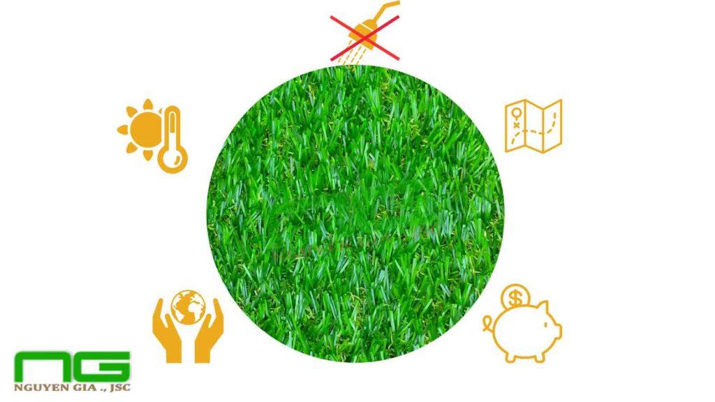 Ưu điểm của cỏ nhân tạo