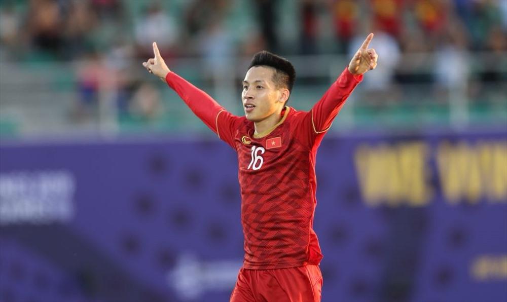 Hung Dung trong mau ao U22 Viet Nam tai SEA Games 30