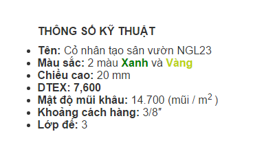 Thong so ki thuat co nhan tao