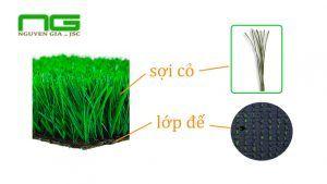 Cấu tạo cỏ nhân tạo Nguyễn Gia